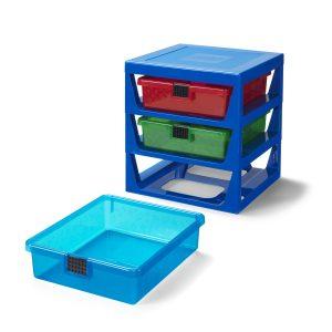 cajonera transparente en bastidor azul lego 5006179