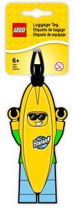 etiqueta de equipaje del chico con disfraz de platano lego 5005580