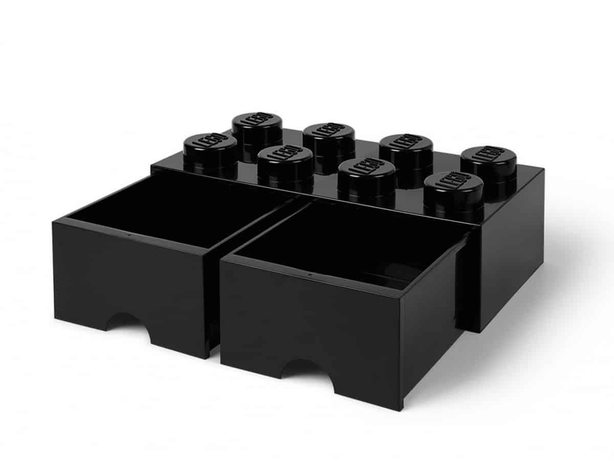 ladrillo de almacenamiento con cajones negro de 8 espigas lego 5006248 scaled