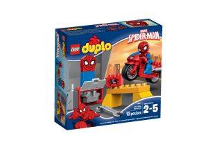 lego 10607 el taller de la moto arana de spider man