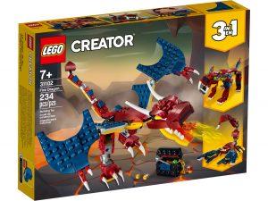 lego 31102 dragon llameante