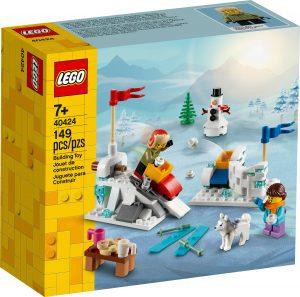 lego 40424 batalla invernal de bolas de nieve