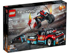 lego 42106 espectaculo acrobatico camion y moto