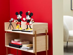 lego 43179 personajes construibles mickey mouse y minnie mouse