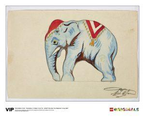 lego 5005997 illustration wooden toy elephant