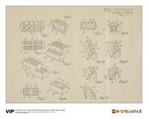 lego 5006004 reproduccion de la patente britanica 1968 1a edicion