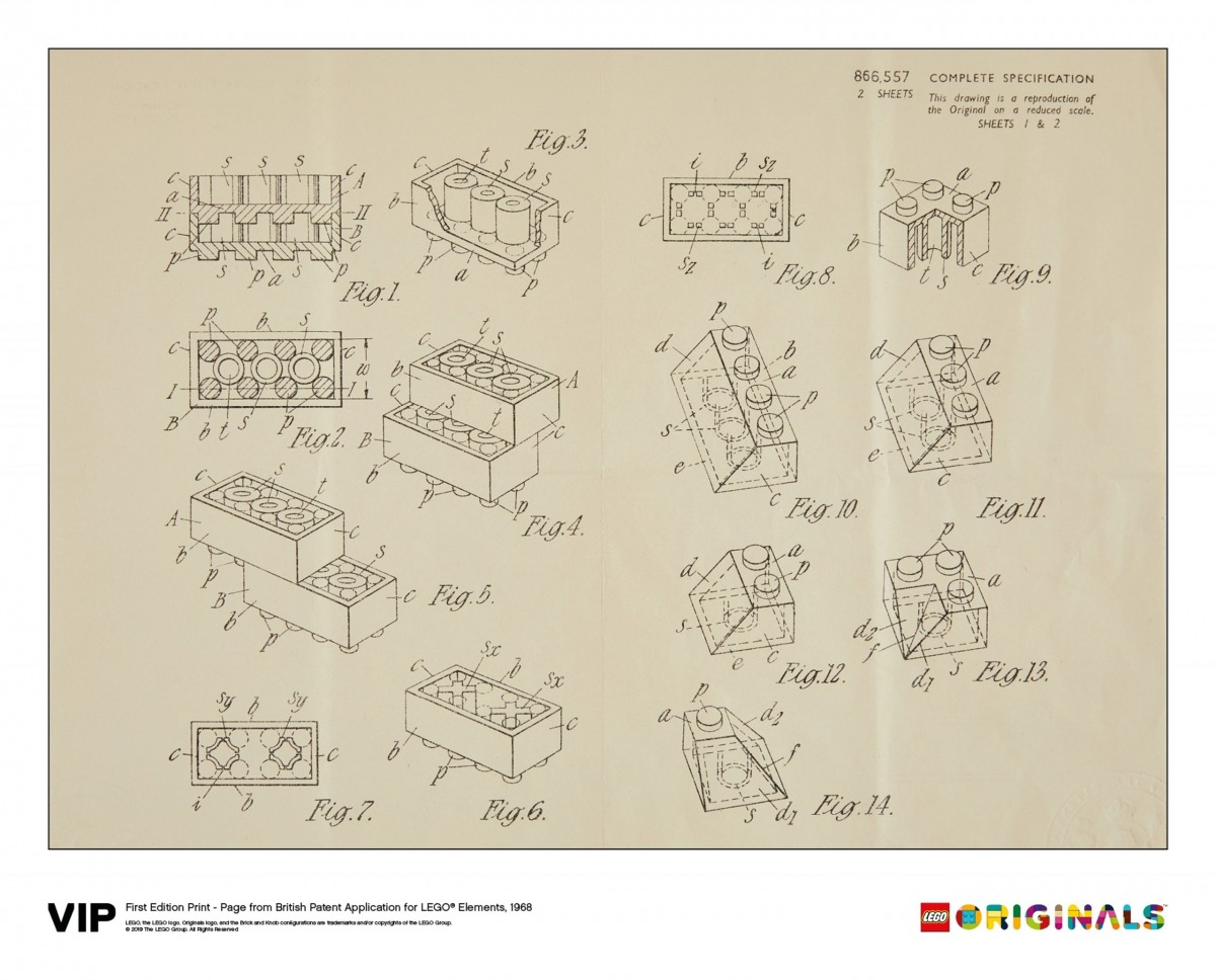 lego 5006004 reproduccion de la patente britanica 1968 1a edicion scaled