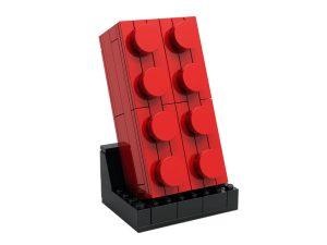 lego 5006085 ladrillo rojo de 2x4 para construir