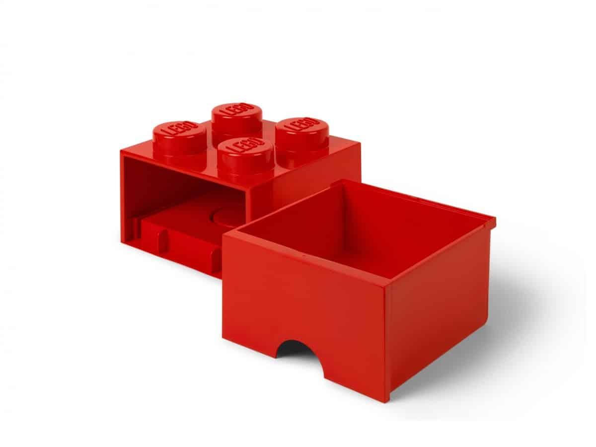 lego 5006129 ladrillo de almacenamiento rojo de 4 espigas con cajon scaled