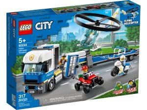 lego 60244 policia camion de transporte del helicoptero
