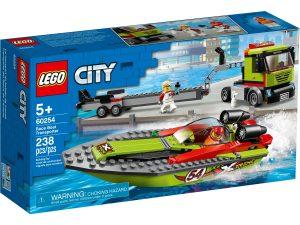 lego 60254 transporte de la lancha de carreras