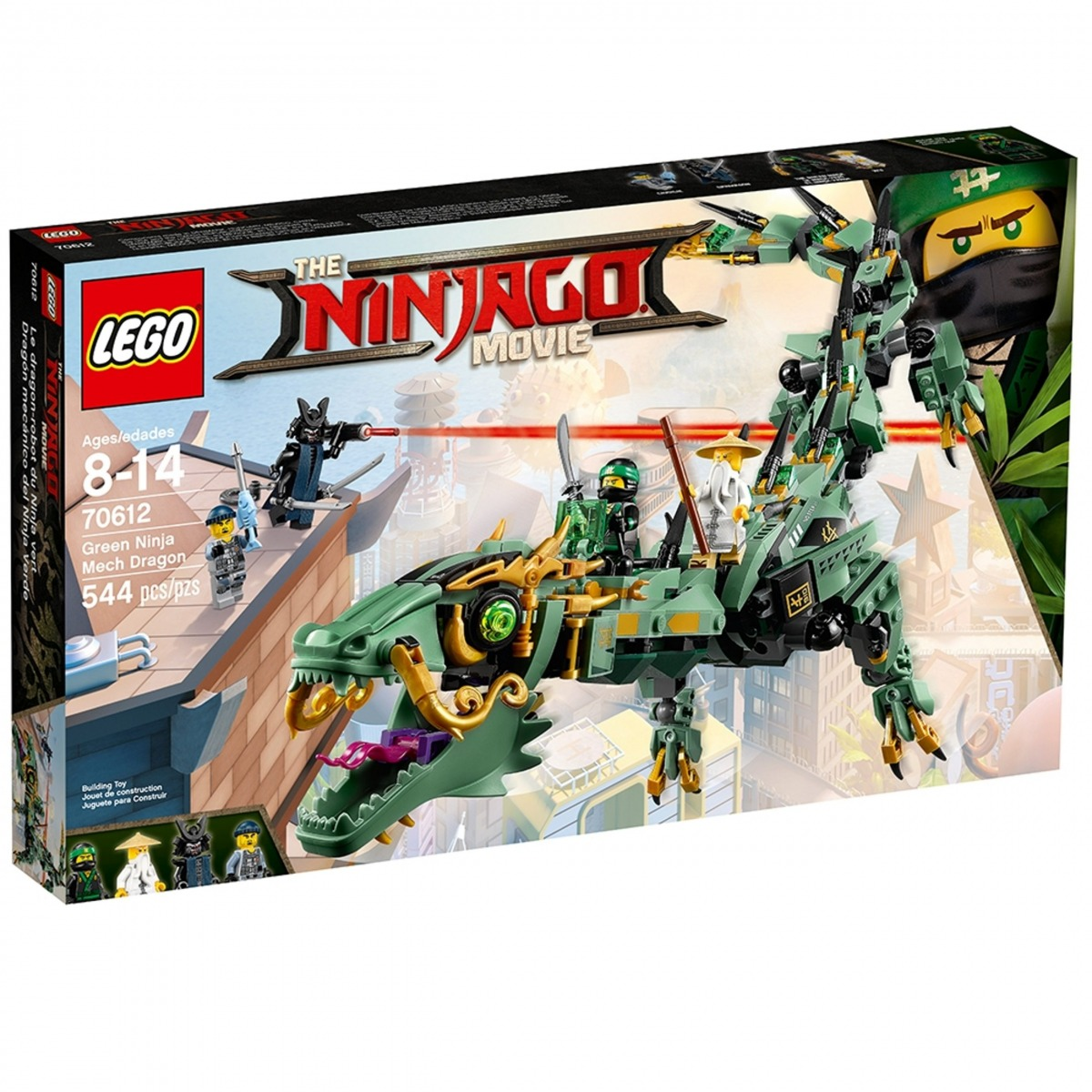 lego 70612 dragon mecanico del ninja verde scaled