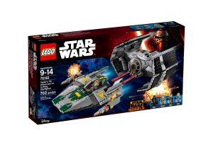 lego 75150 tie advanced de vader vs a wing starfighter