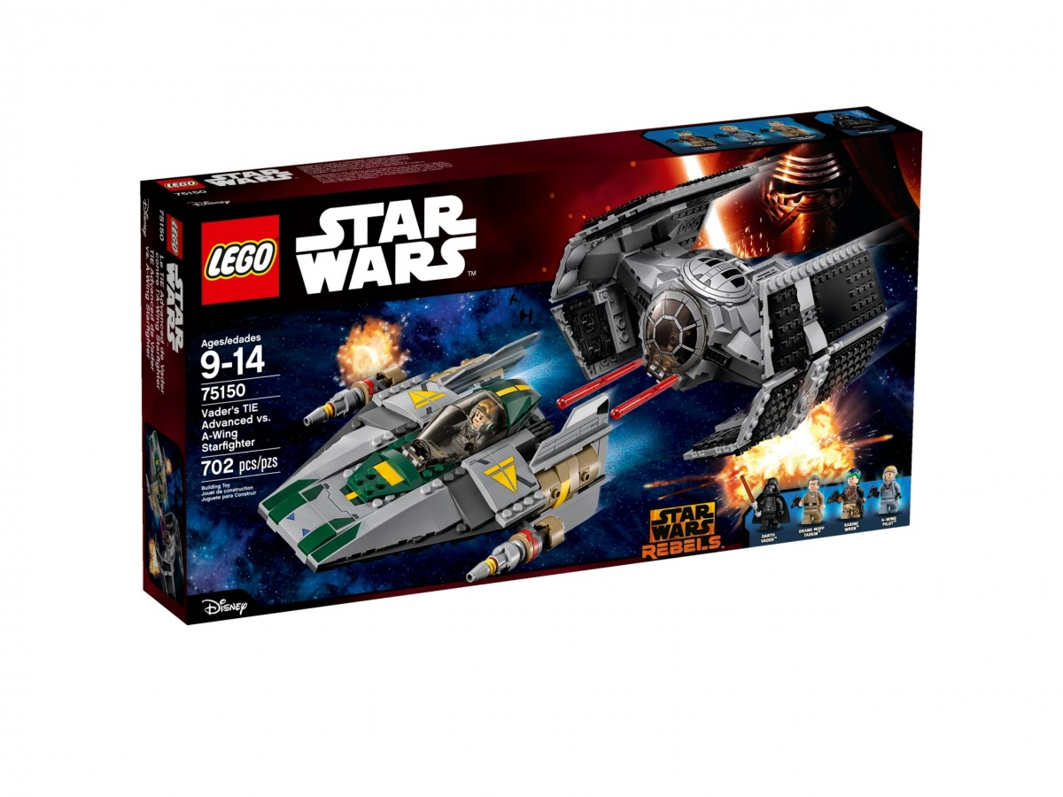 lego 75150 tie advanced de vader vs a wing starfighter scaled