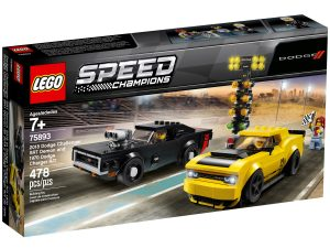 lego 75893 dodge challenger srt demon de 2018 y dodge charger r t de 1970
