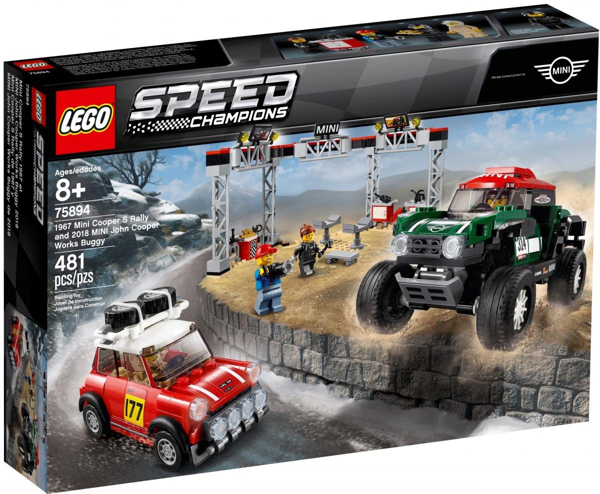 lego 75894 mini cooper s rally de 1967 y mini john cooper works buggy de 2018 scaled