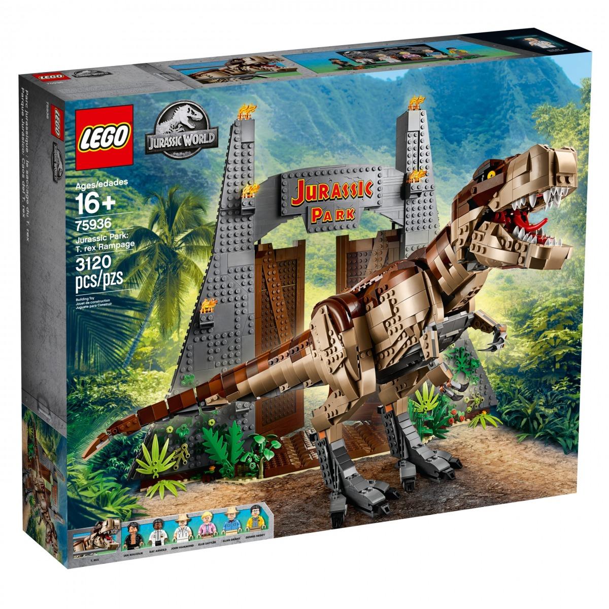 lego 75936 parque jurasico caos del t rex scaled
