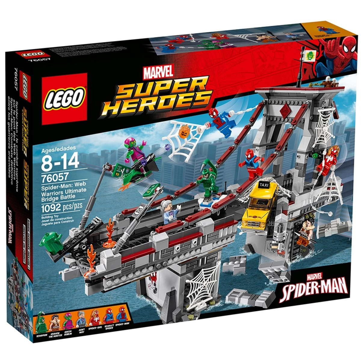 lego 76057 spider man combate definitivo entre los guerreros aracnidos scaled
