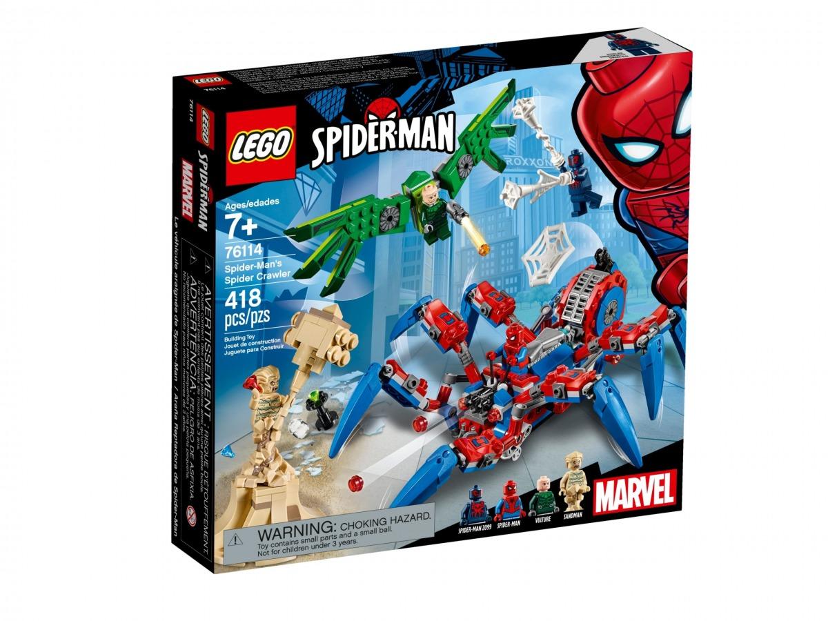 lego 76114 arana reptadora de spider man scaled