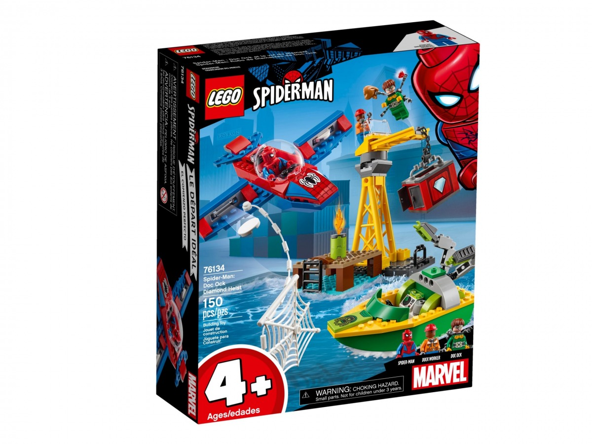 lego 76134 spider man robo de diamantes de doc ock scaled