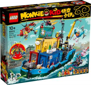lego 80013 cuartel general secreto del equipo de monkie kid