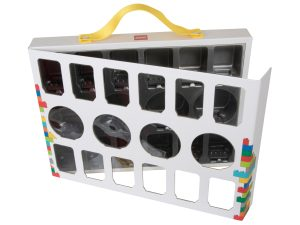 lego 851399 iconic maletin de transporte de minifiguras