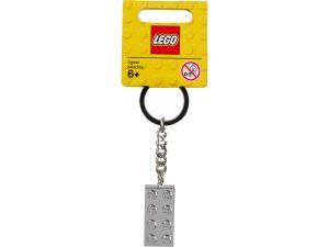 lego 851406 llavero con ladrillo metalizado de 2x4