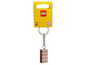 lego 853793 llavero con ladrillo oro rosa de 2x4