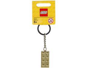 llavero con ladrillo dorado lego 850808
