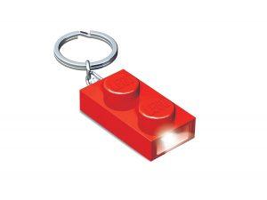 llavero con luz de ladrillo 1x2 lego 5004264 rojo
