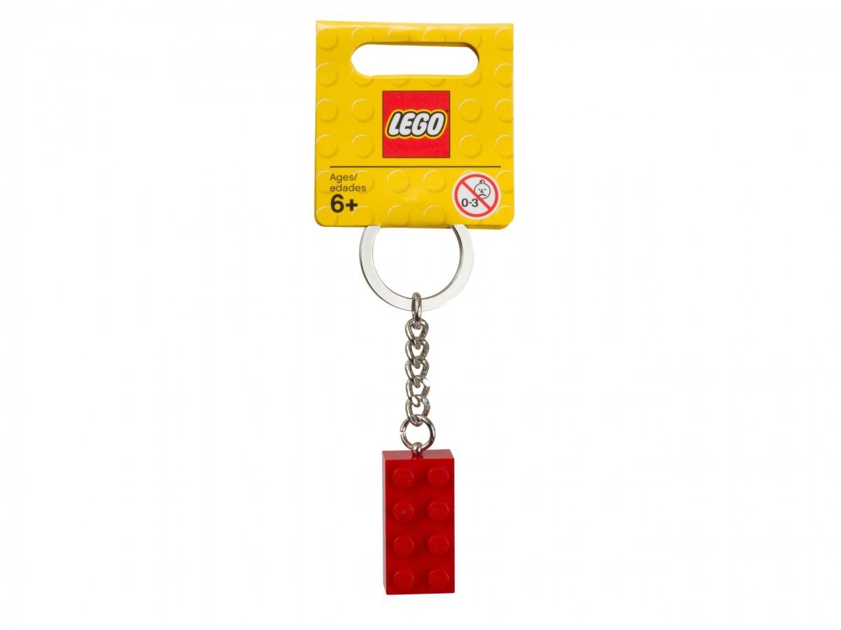 llavero de ladrillo lego 850154 rojo scaled