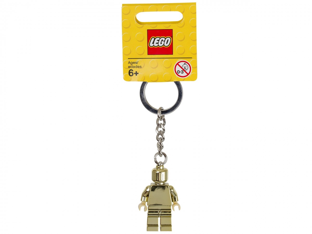 llavero de minifigura dorada lego 850807 scaled