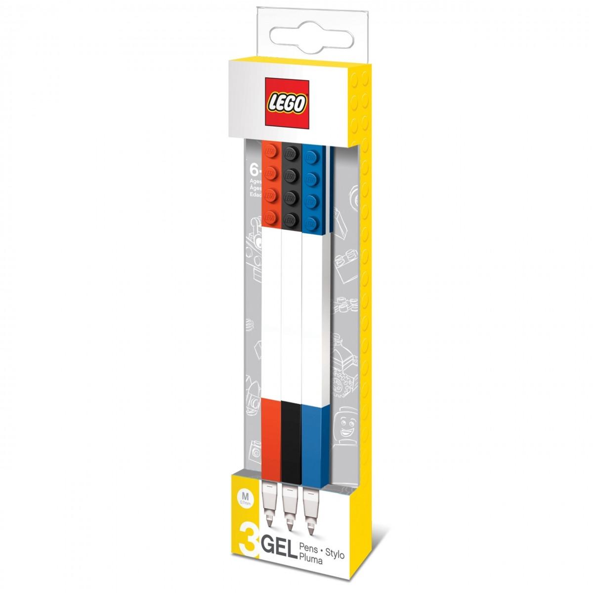 paquete de 3 boligrafos de gel lego 5005109 scaled