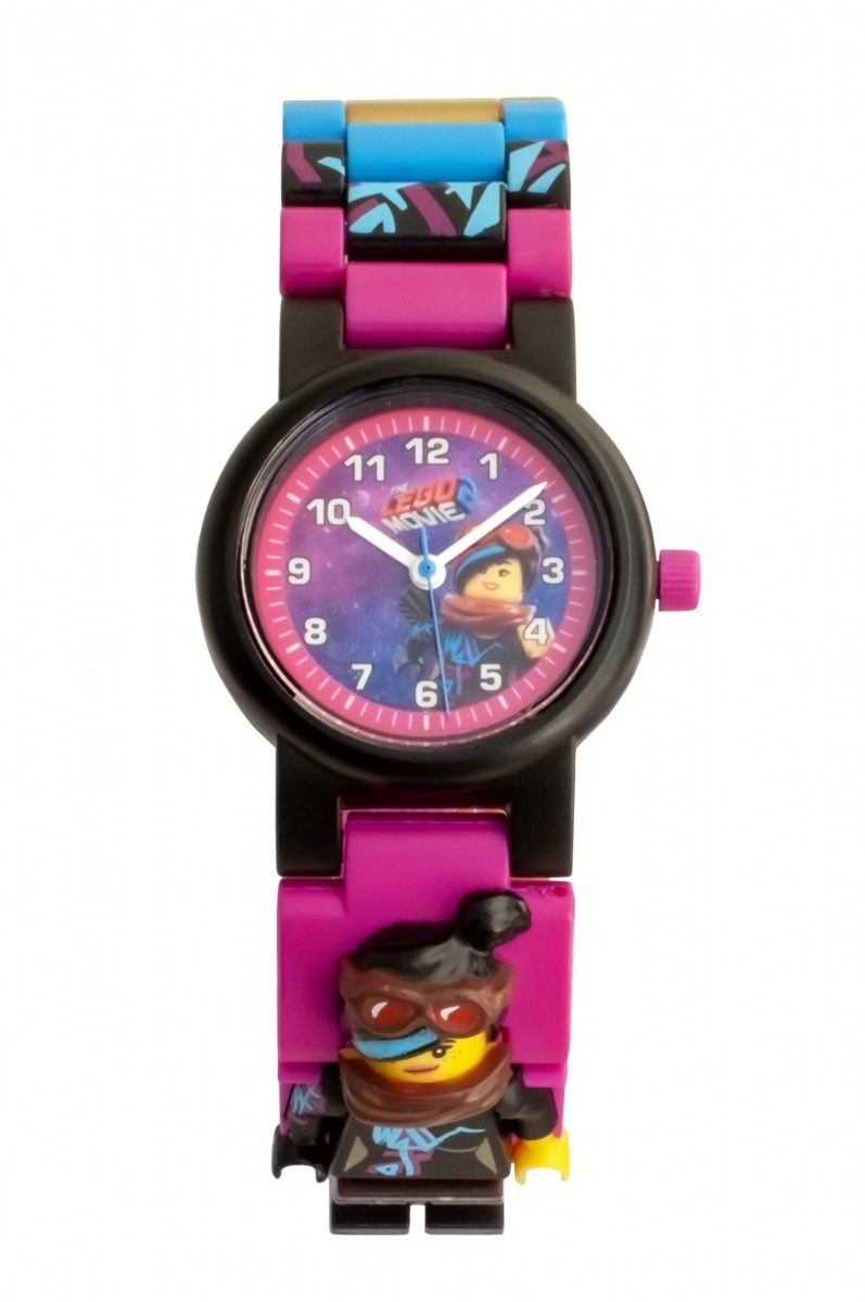 reloj de pulsera con minifigura de supercool de lego 5005703 movie 2 scaled