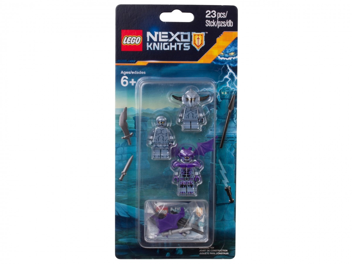 set de accesorios para monstruos de piedra lego 853677 nexo knights scaled