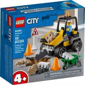 lego 60284 vehiculo de obras en carretera