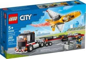 lego 60289 camion de transporte del reactor acrobatico