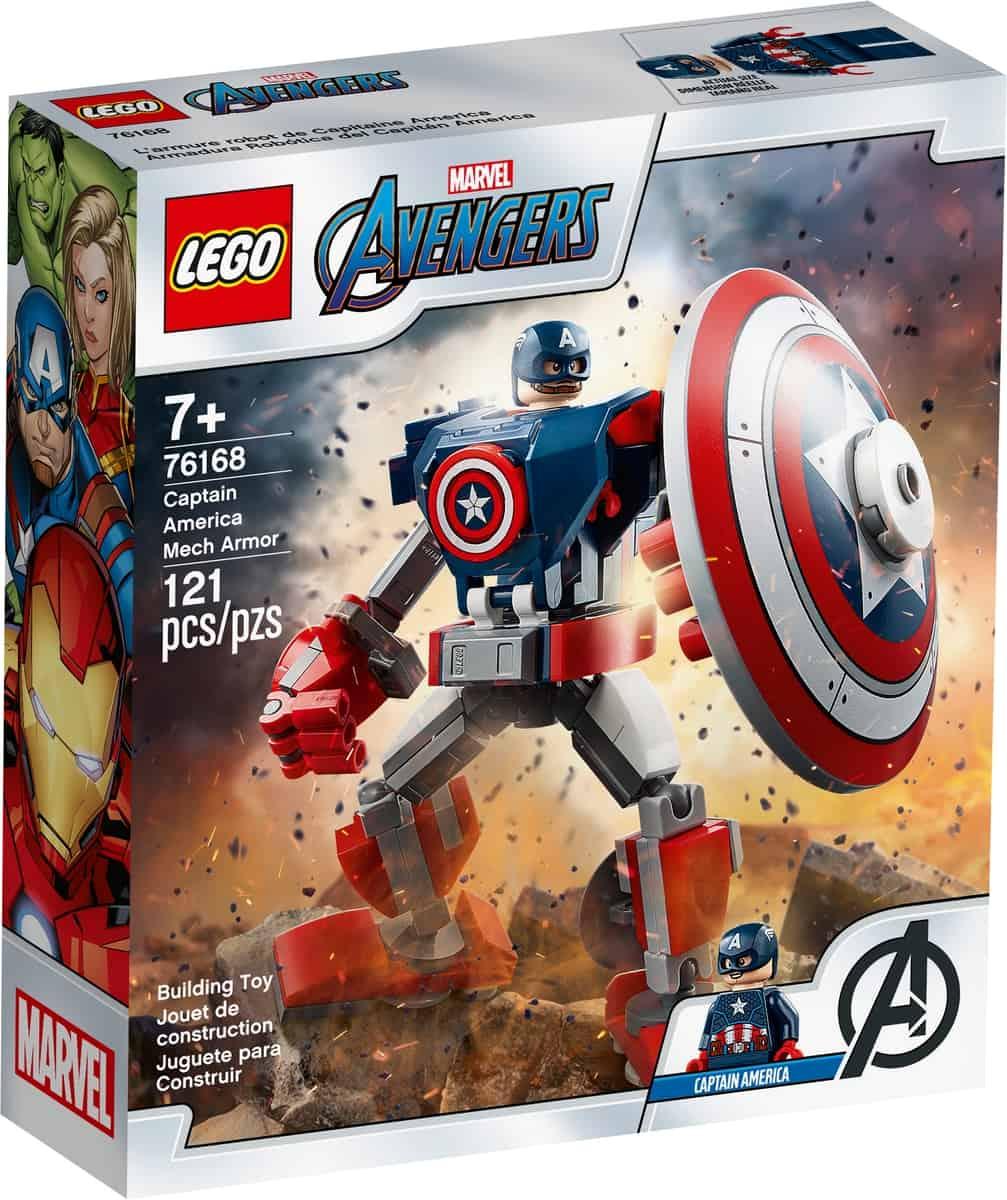 lego 76168 armadura robotica del capitan america