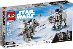 lego 75298 microfighters at at vs tauntaun