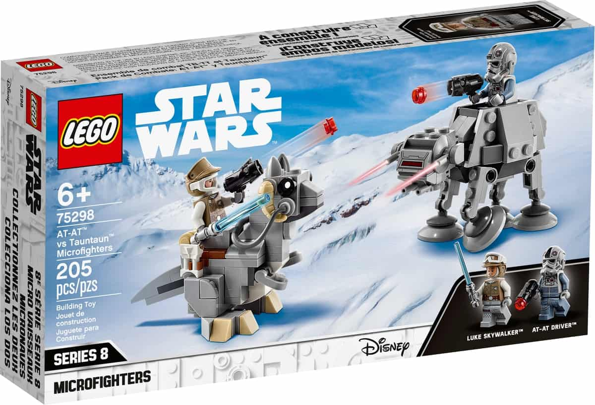 lego 75298 microfighters at at vs tauntaun