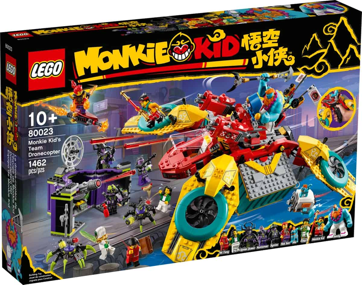 lego 80023 droncoptero del equipo de monkie kid
