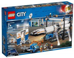lego 60229 ensamblaje y transporte del cohete