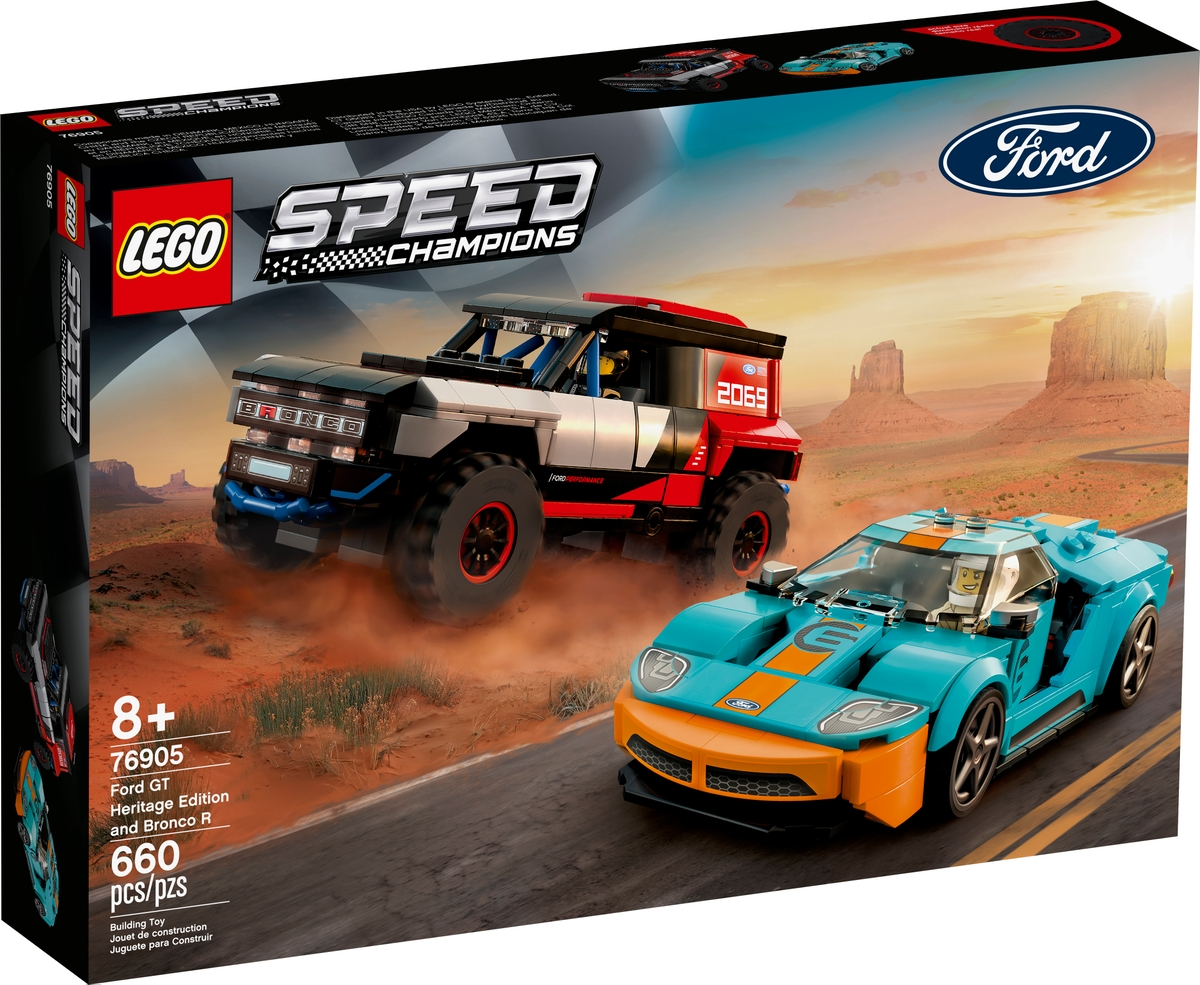 lego 76905 ford gt heritage edition y bronco r