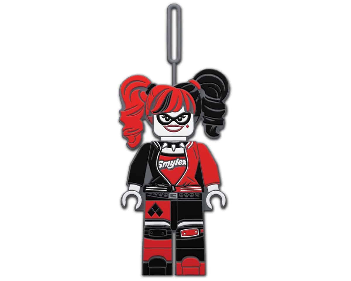 etiqueta de equipaje de harley quinn de la lego 5005296 batman pelicula