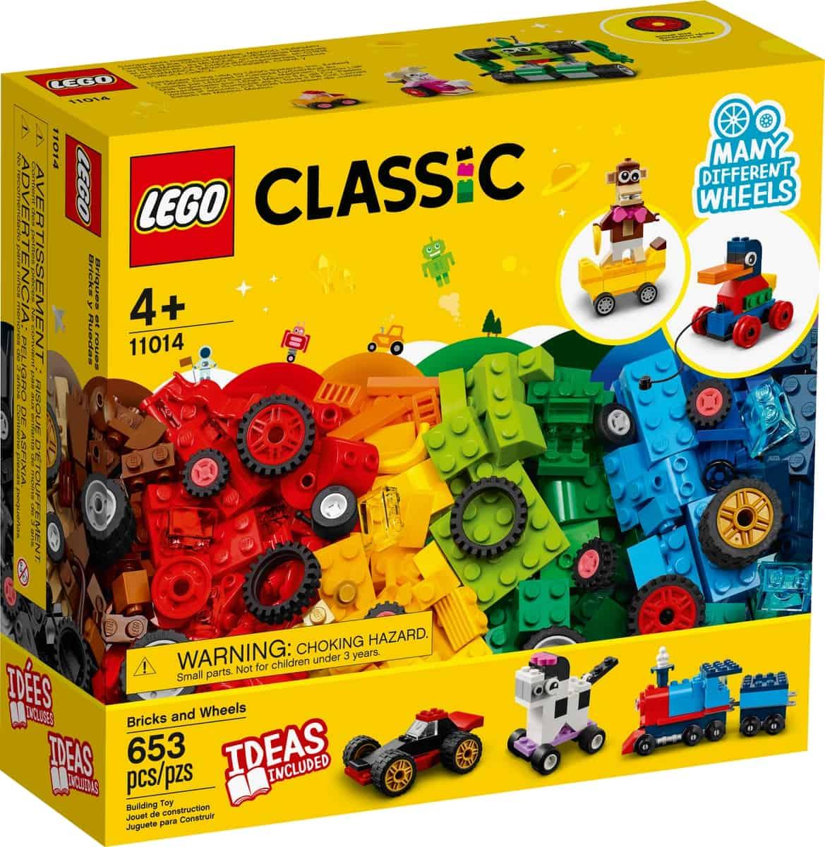 lego 11014 ladrillos y ruedas
