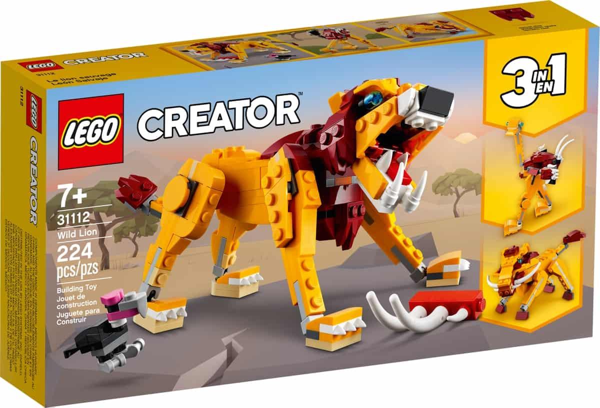 lego 31112 leon salvaje