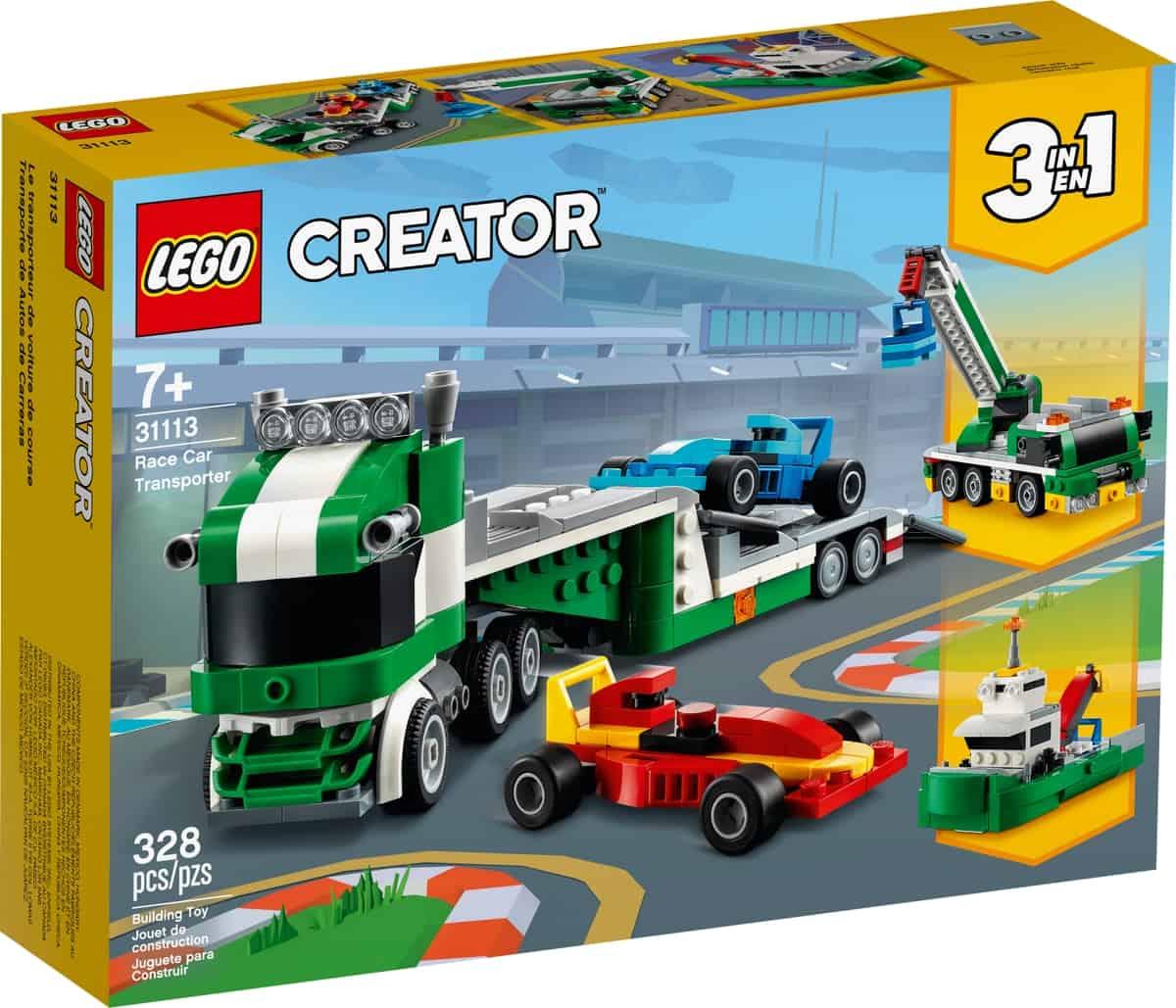 lego 31113 transporte de coches de carreras