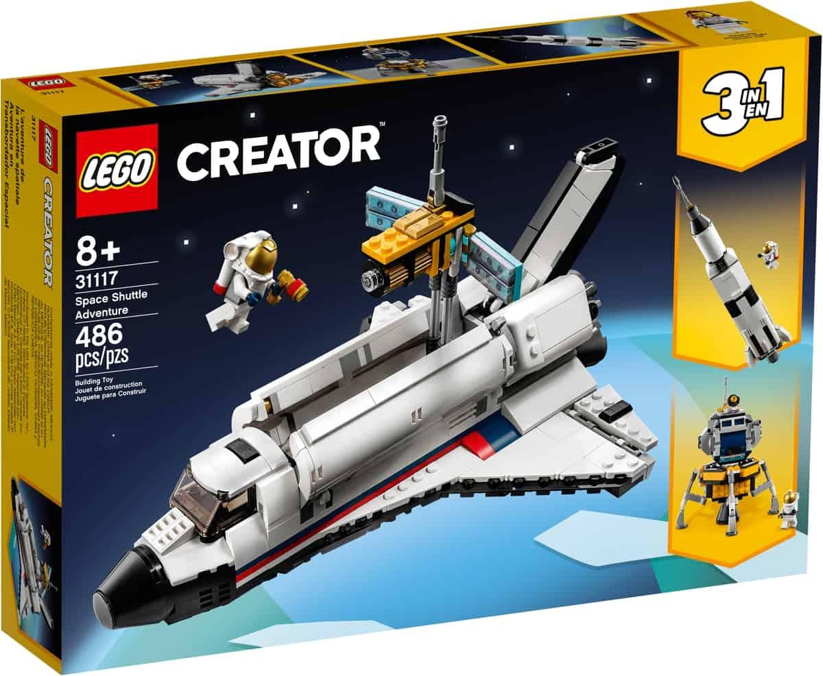 lego 31117 aventura en lanzadera espacial
