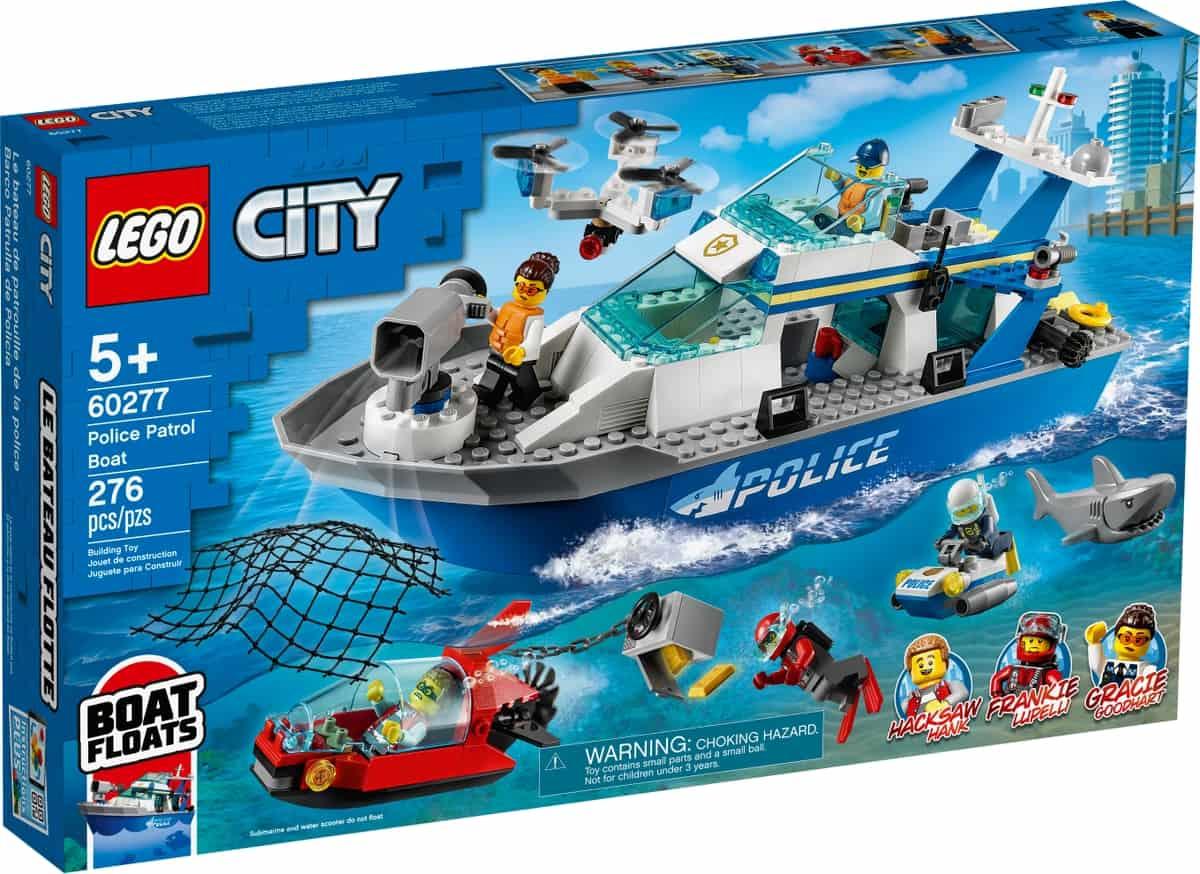 lego 60277 barco patrulla de policia