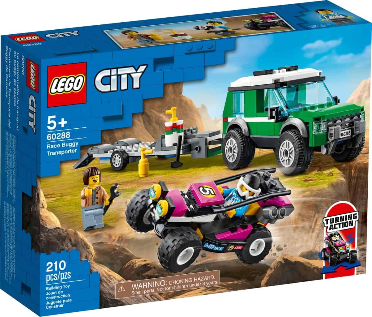lego 60288 furgoneta de transporte del buggy de carreras